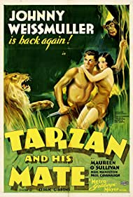 Maureen O'Sullivan and Johnny Weissmuller in Tarzan and His Mate (1934)
