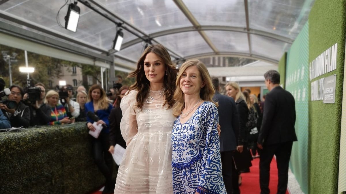 Keira Knightley and Katharine Gun at an event for Official Secrets (2019)