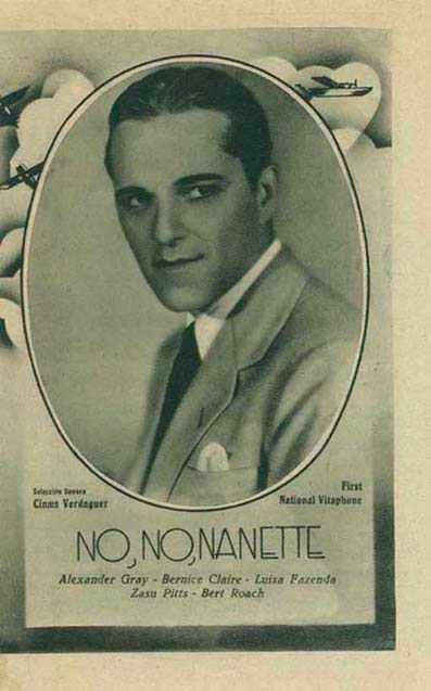 Alexander Gray in No, No, Nanette (1930)