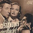 Daniel Gélin, Michèle Morgan, and Jean Gabin in La minute de vérité (1952)