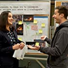 Melissa Fumero and Andy Samberg in Brooklyn Nine-Nine (2013)