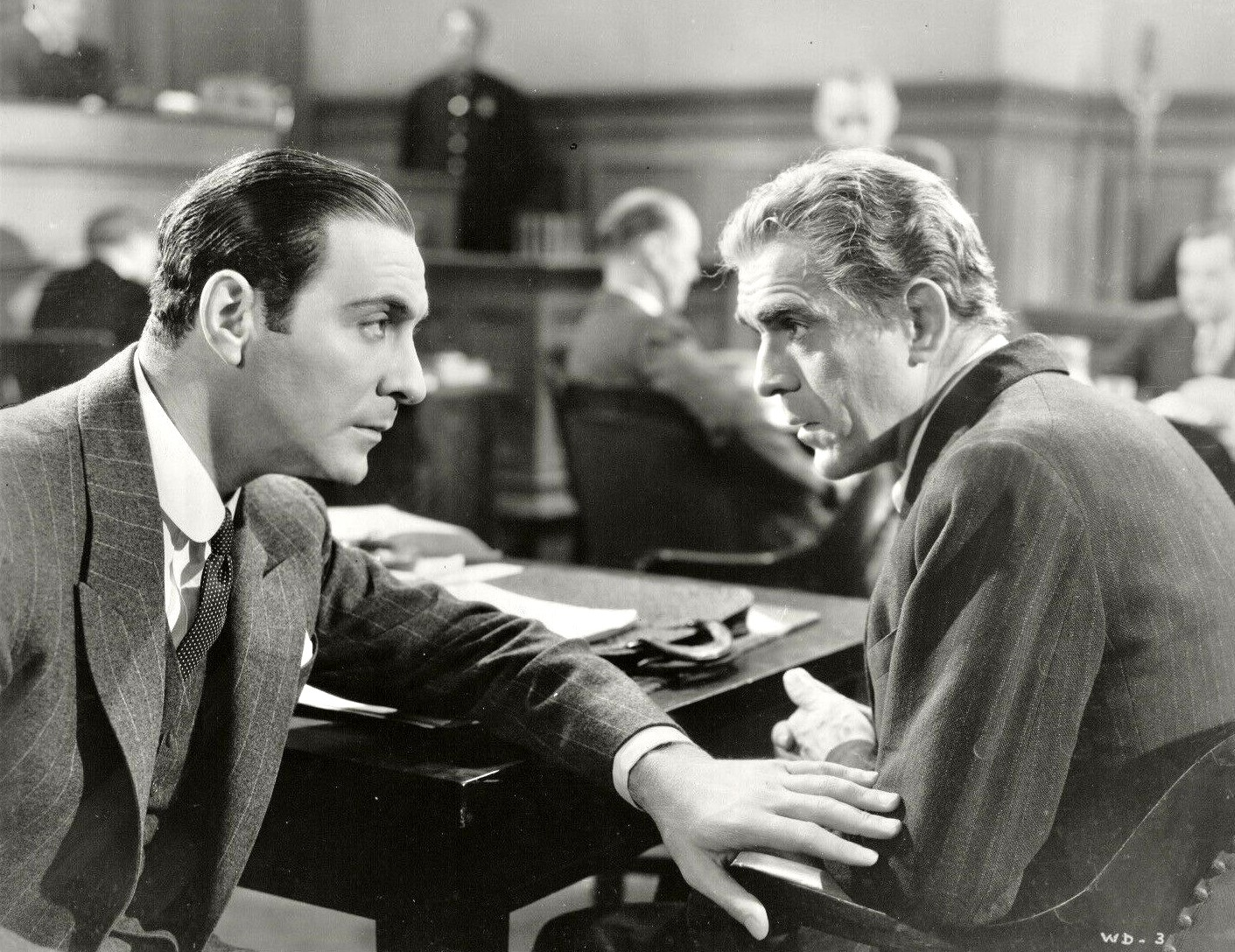 Boris Karloff and Ricardo Cortez in The Walking Dead (1936)