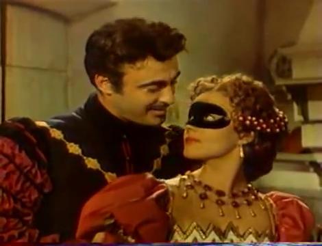 Armando Francioli and Jeanne Moreau in La reine Margot (1954)