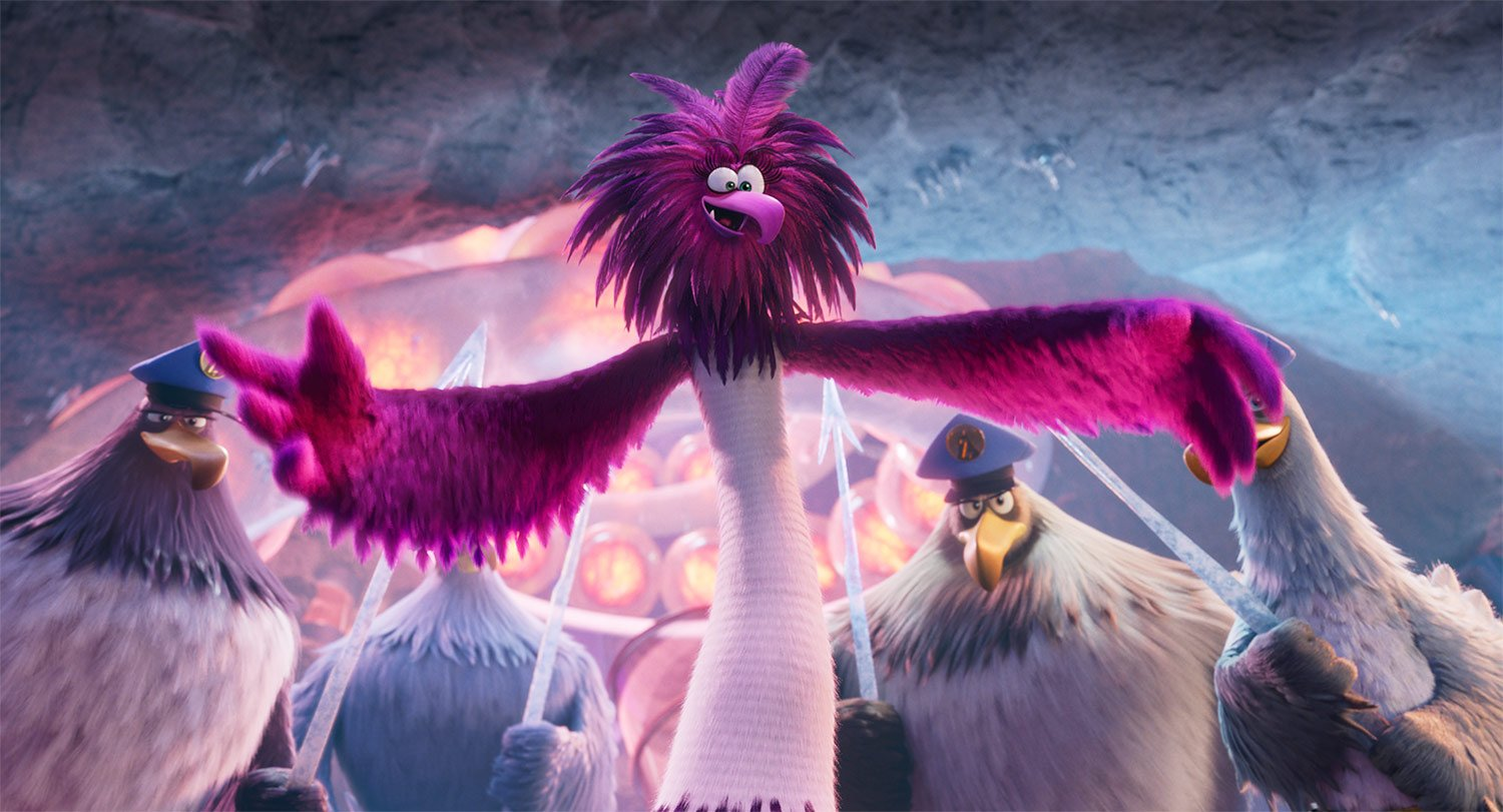 Pete Davidson, Leslie Jones, and Zach Woods in The Angry Birds Movie 2 (2019)