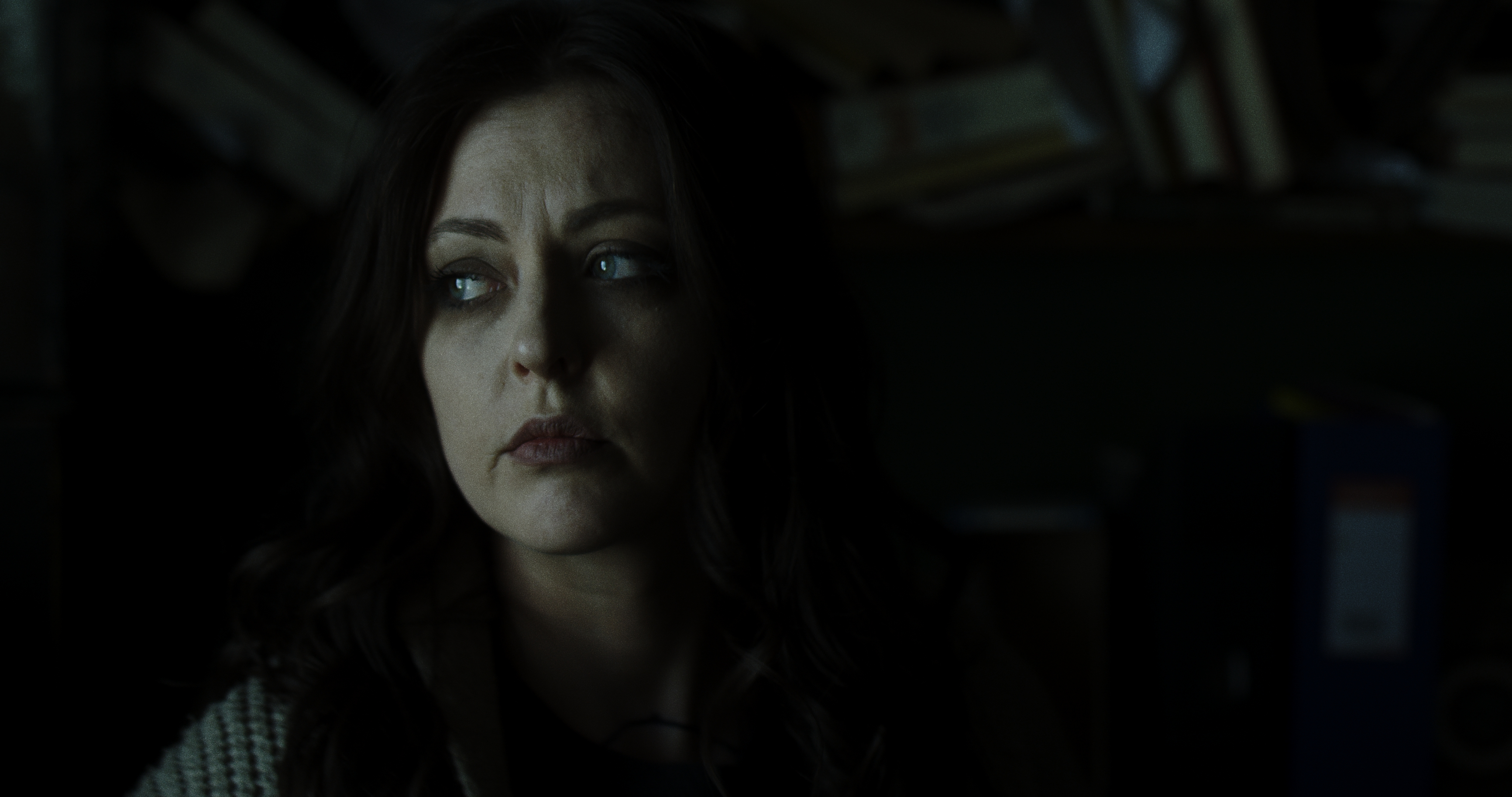 Katharine Isabelle and Randal Plunkett in The Green Sea