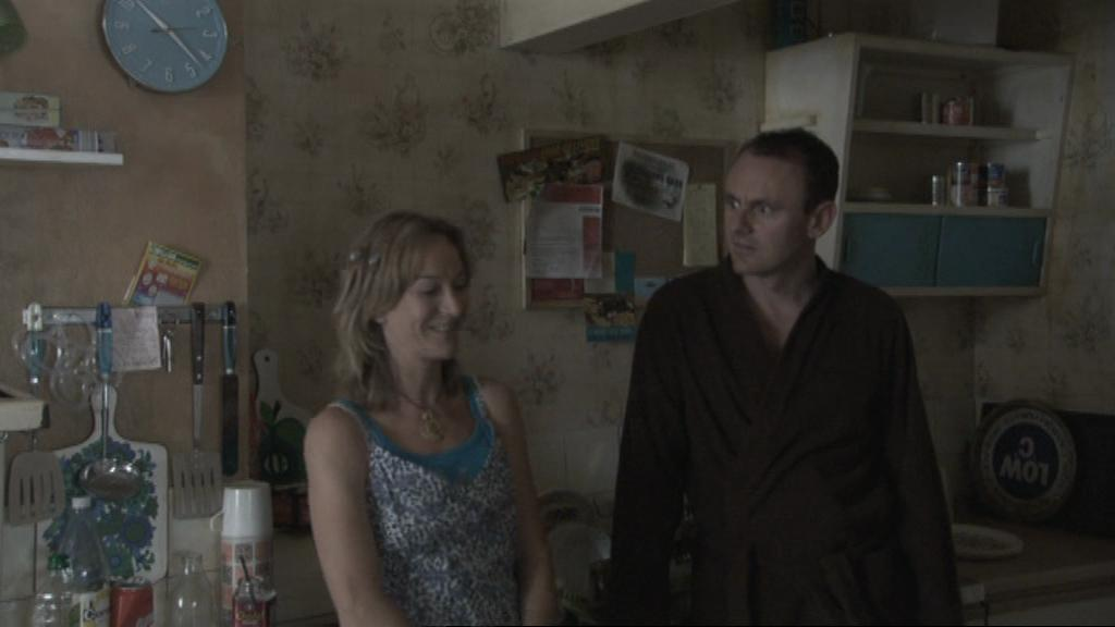 Sean Lock and Matilda Ziegler in 15 Storeys High (2002)