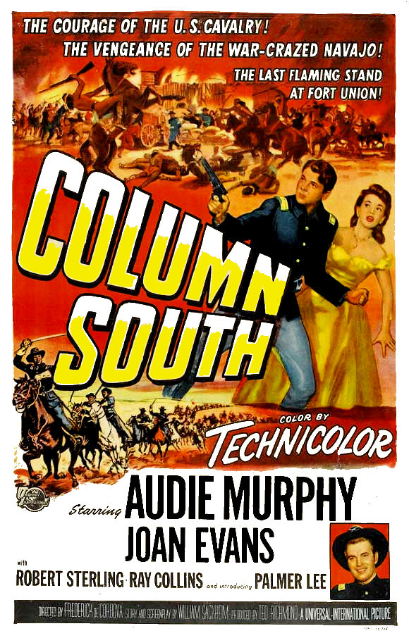 Audie Murphy, Joan Evans, and Gregg Palmer in Column South (1953)