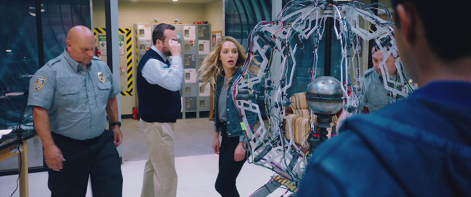 Jessica Rothe and Steve Zissis in Happy Death Day 2U (2019)