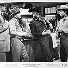 Audie Murphy, Dan Duryea, Russell Johnson, and William Pullen in Ride Clear of Diablo (1954)