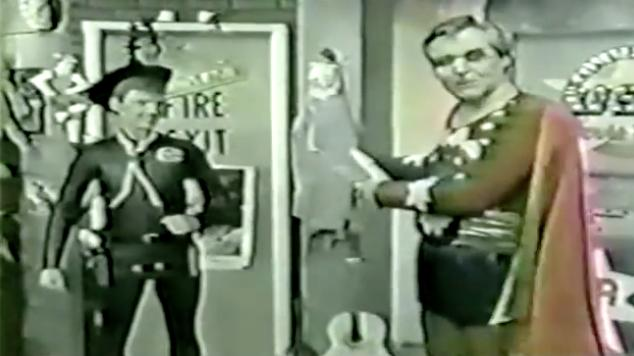 Jim Hendricks and Michael Fry in Commander USA's Groovie Movies (1985)