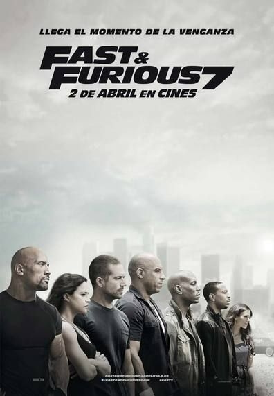 Poster Film Fast & Furious 7