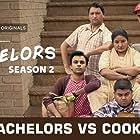 Gopal Datt, Vibha Chhibber, Shivankit Singh Parihar, Jitendra Kumar, Jasmeet Singh Bhatia, and Badri Chavan in TVF Bachelors (2016)