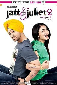 Neeru Bajwa and Diljit Dosanjh in Jatt & Juliet 2 (2013)