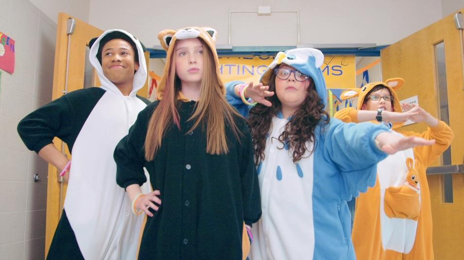 Judah Bellamy, Ashton Woerz, Annabelle Zasowski, and Dahlia White in Hall Stars (2015)