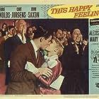 Debbie Reynolds, Curd Jürgens, and John Saxon in This Happy Feeling (1958)