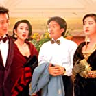 Monica Chan, Man Cheung, Stephen Chow, and Andy Lau in Dou hap (1990)
