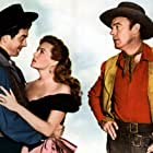 Rhonda Fleming, Dennis O'Keefe, and John Payne in The Eagle and the Hawk (1950)