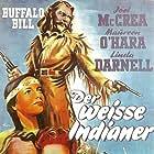 Maureen O'Hara, Linda Darnell, and Joel McCrea in Buffalo Bill (1944)
