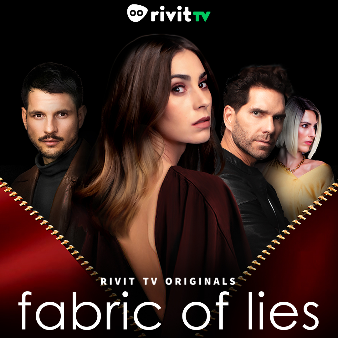Arap Bethke, Sarah Nichols, Emilia Garcia, and Juan Pablo Campa in Fabric of Lies (2020)