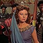 Susan Hayward, Ted de Corsia, and Jeanne Gerson in The Conqueror (1956)
