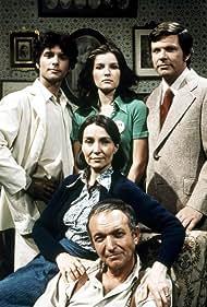 Kate Mulgrew, Bernard Barrow, Helen Gallagher, Malcolm Groome, and Michael Hawkins in Ryan's Hope (1975)