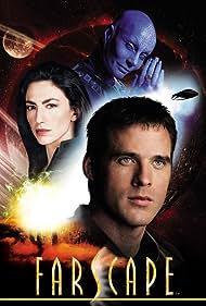 Claudia Black, Ben Browder, and Virginia Hey in Farscape (1999)