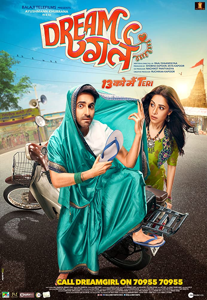 Dream Girl 2019 Hindi Full Movie DVDScr 700MB x264