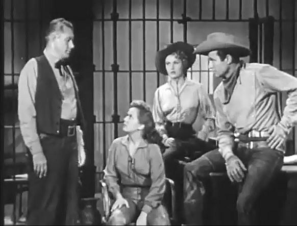 Mary Castle, Jim Davis, Tyler McVey, and Gloria Winters in Stories of the Century (1954)
