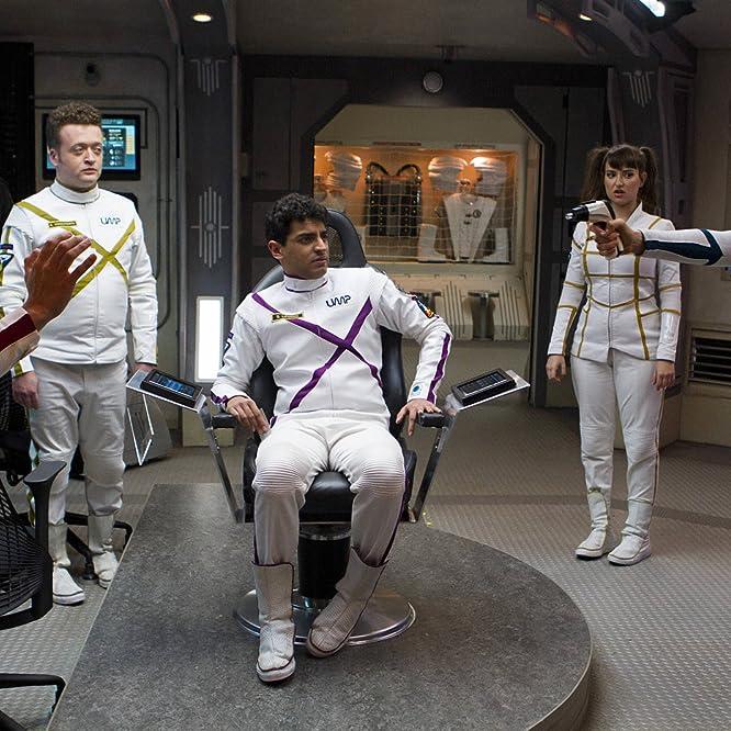 Joel Hodgson, Bess Rous, Milana Vayntrub, Neil Casey, Eugene Cordero, and Karan Soni in Other Space (2015)