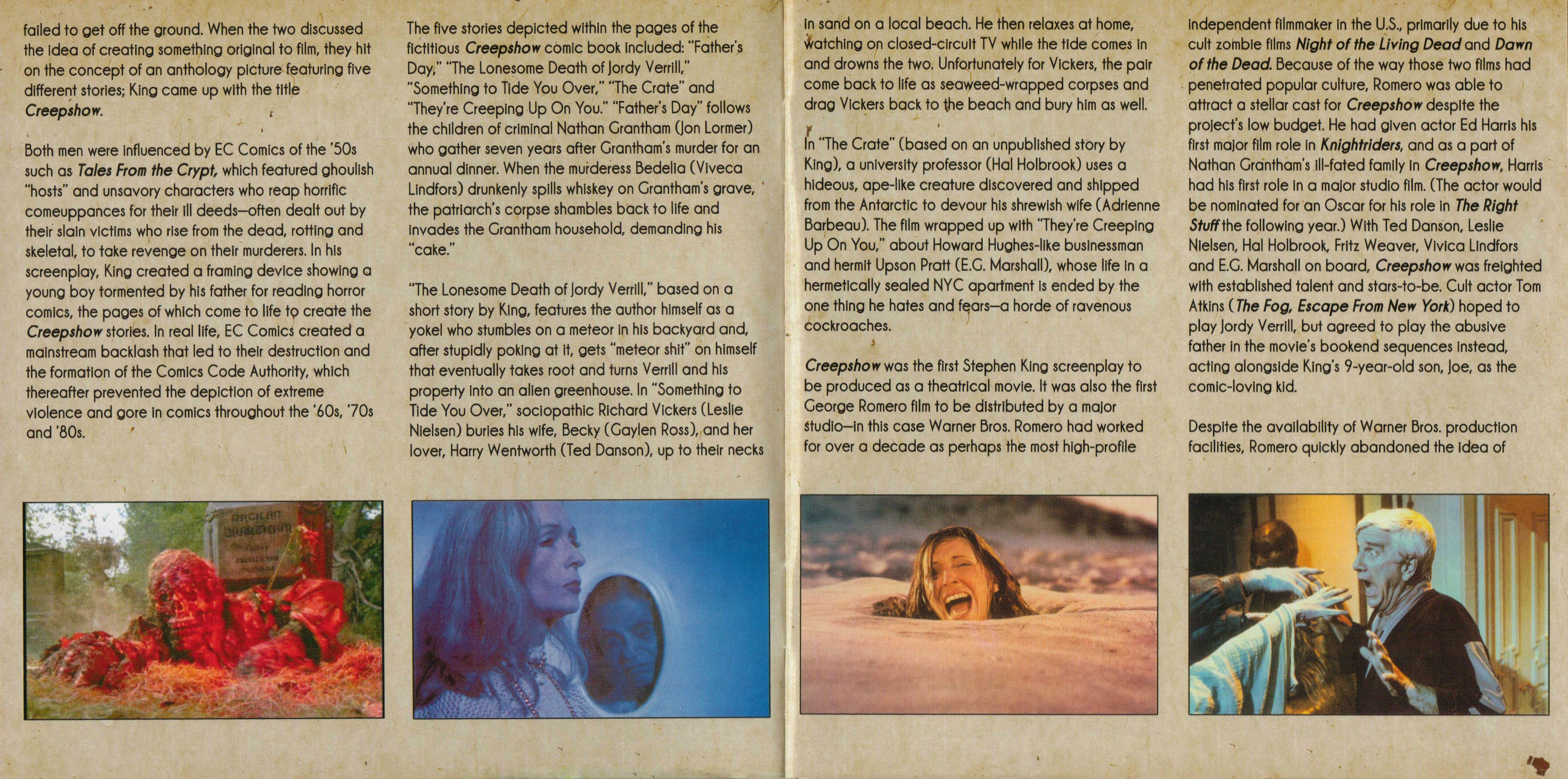 Leslie Nielsen, John Amplas, and Gaylen Ross in Creepshow (1982)