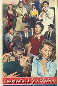 Maria Fiore, Célina Cély, Titina De Filippo, Franco Fabrizi, Jorge Mistral, Magali Noël, Virgilio Riento, and Alberto Talegalli in È arrivata la parigina (1958)