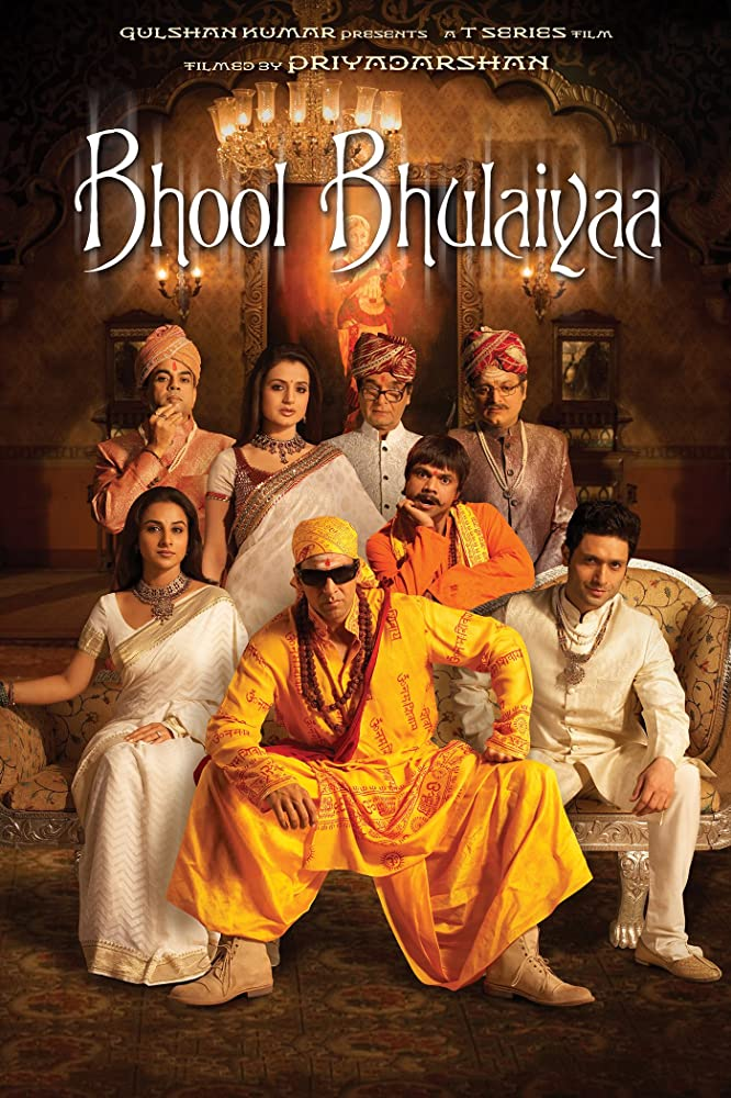 Bhool Bhulaiyaa 2007 Hindi Movie 720p BluRay 1GB ESub Download