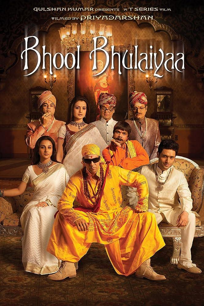 Bhool Bhulaiyaa 2007 Hindi Movie 450MB BluRay ESub Download