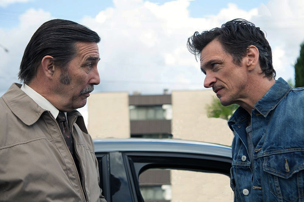 Ciarán Hinds and John Hawkes in The Driftless Area (2015)