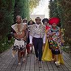 Nandi Nyembe, Sandile Mahlangu, and Trevor Gumbi in How to Ruin Christmas: The Wedding (2020)