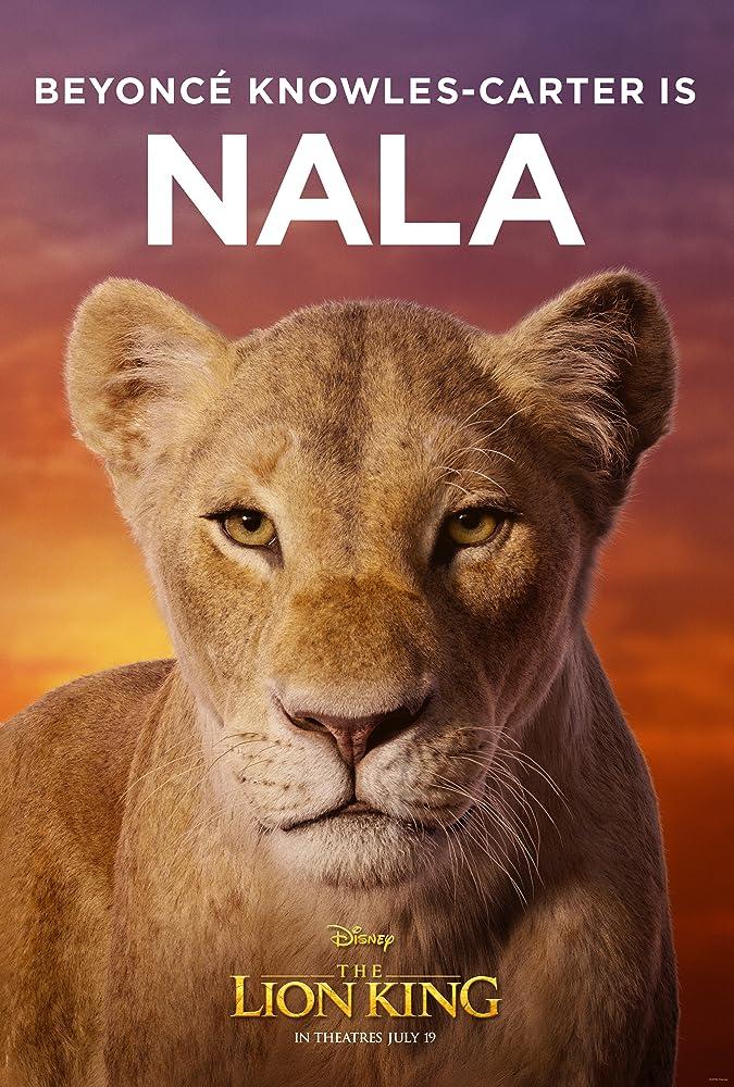 Beyonce mengisi suara Nala pada film The Lion King.