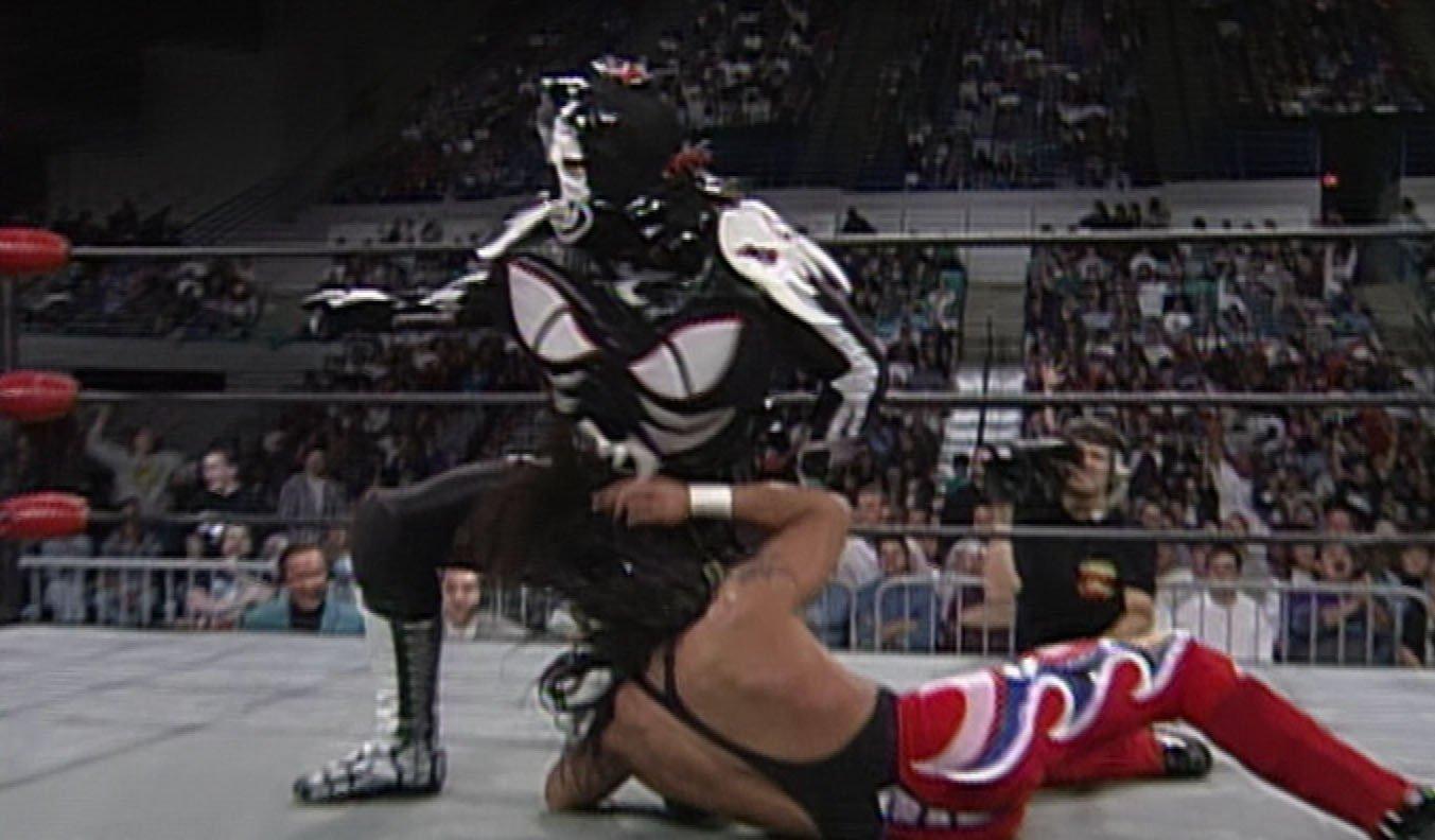 Eduardo Hernández and Adolfo Tapia in WCW Monday Nitro (1995)