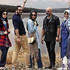 Ra'na Azadivar, Andishe Fooladvand, Amir Aghaee, Milad Keymaram, and Mahtab Servati in Harime Shakhsi (2017)