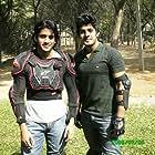 Naga Chaitanya Akkineni and Vishu Reddy in Josh (2009)