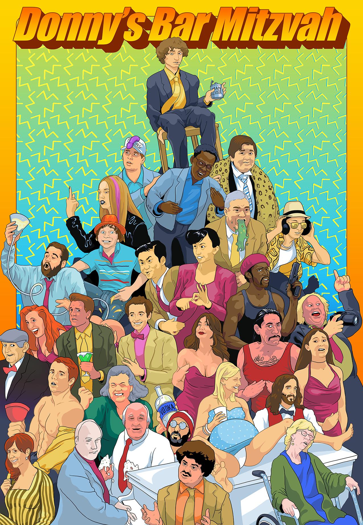 Danny Trejo, Isabelle Anaya, Noureen DeWulf, John DeLuca, Steele Stebbins, Bryson Robinson, and Adrian Ciscato in Donny's Bar Mitzvah (2021)