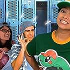 Imaan Khasru, Aaron Ventresca, Bethany Villaruz, and Saareen Junaid in All Underdogs Go to Heaven (2021)