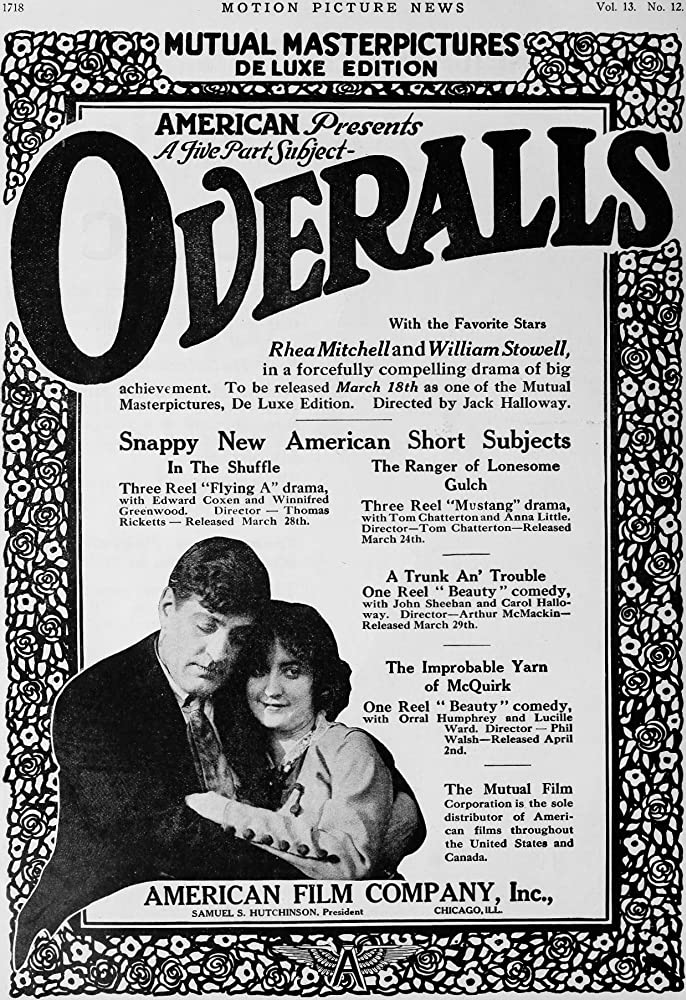 Rhea Mitchell and William Stowell in Overalls (1916)