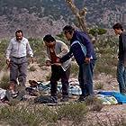 Damián Alcázar, Silverio Palacios, Gustavo Sánchez Parra, Joaquín Cosio, and Américo Hollander in La delgada línea amarilla (2015)