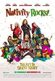 Craig Revel Horwood, Helen George, and Simon Lipkin in Nativity Rocks! (2018)
