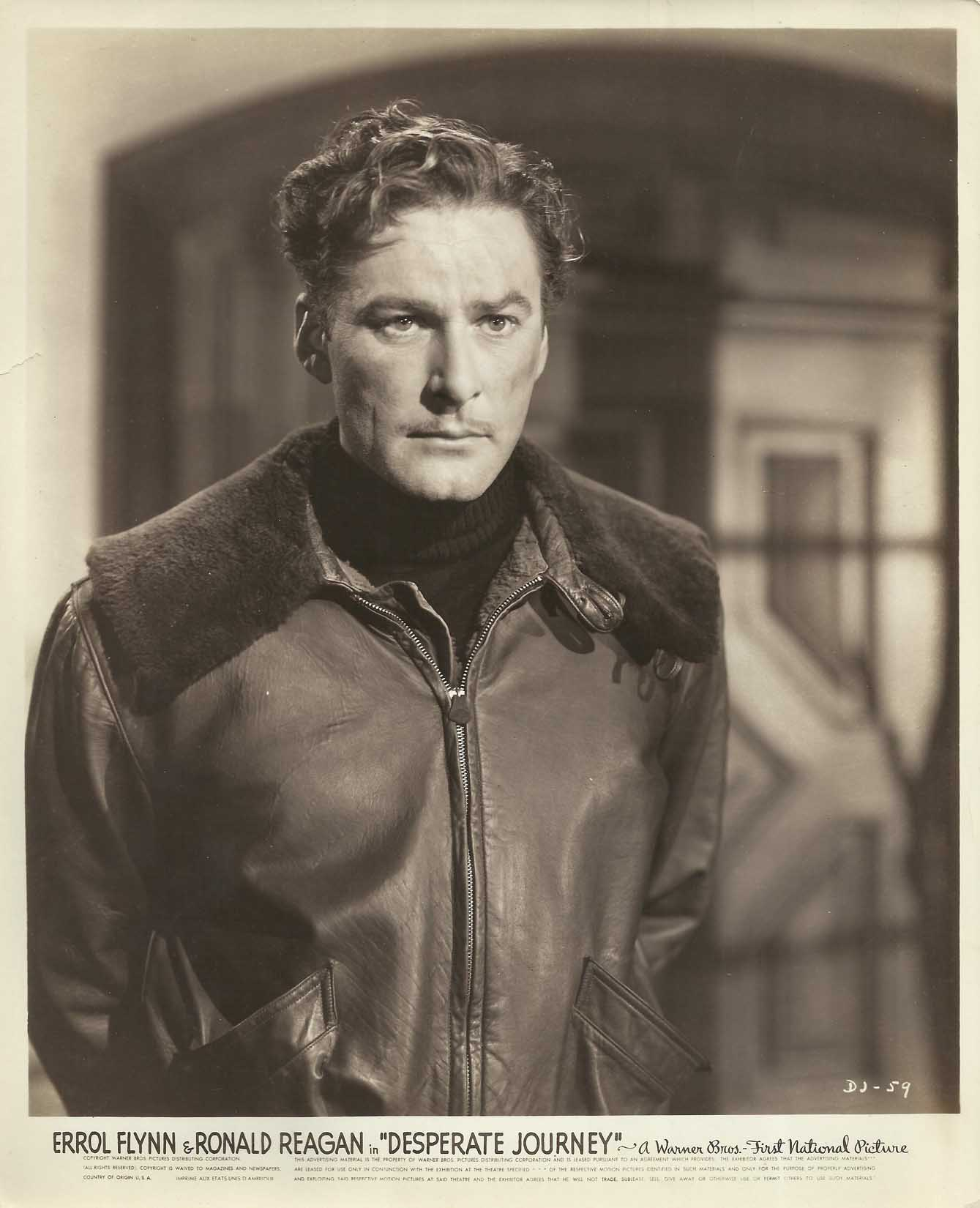 Errol Flynn in Desperate Journey (1942)