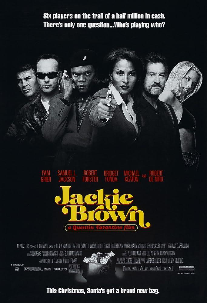 Robert De Niro, Samuel L. Jackson, Bridget Fonda, Pam Grier, Michael Keaton, and Robert Forster in Jackie Brown (1997)