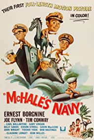 Ernest Borgnine, Carl Ballantine, Tim Conway, Joe Flynn, and Yoshio Yoda in McHale's Navy (1964)