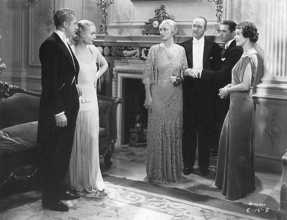 Carole Lombard, Donald Cook, Florence Britton, Theresa Maxwell Conover, Reginald Mason, and Gene Raymond in Brief Moment (1933)