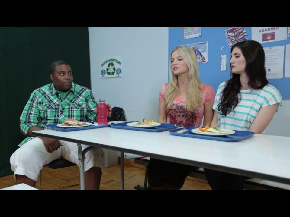 Beau Kenan Thompson, Taylor Black, And Juliette Monaco In Cool Kidsu0027 Table (2012