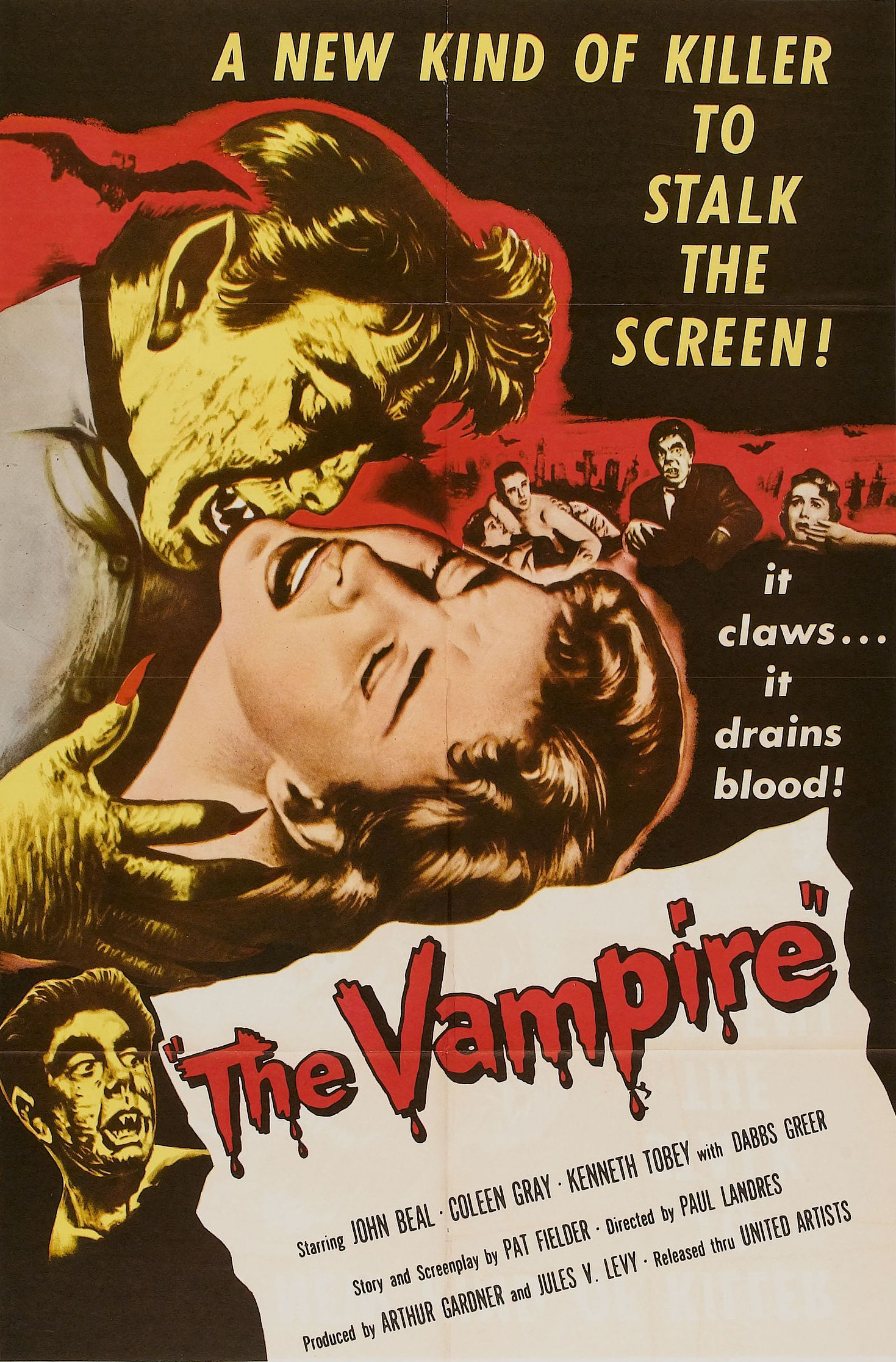 John Beal and Coleen Gray in The Vampire (1957)